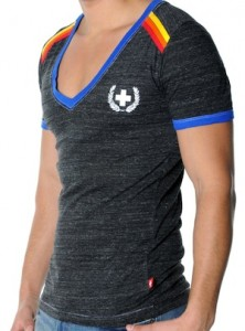 Andrew Christian boardwalk deep v-neck tee